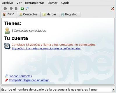 El programa Skype de telefonía